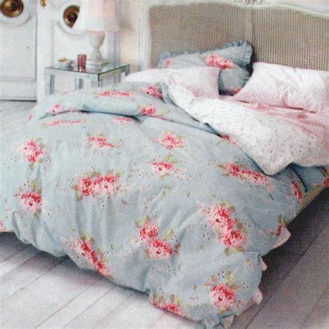 simply shabby chic hydrangea rose king duvet  shams comforter cover