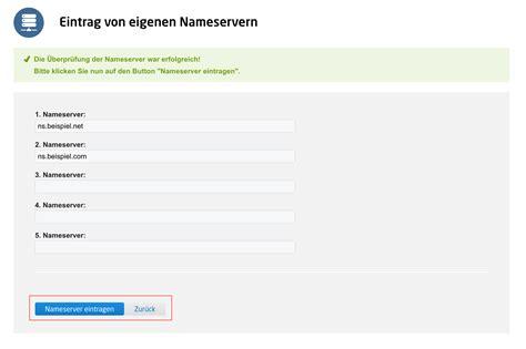 meine domain wie lasse ich nameserver f 252 r meine domain eintragen