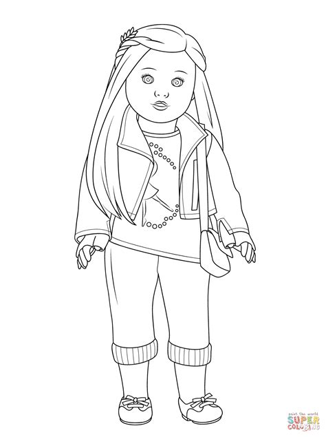 free coloring pages of american girl dolls american girl isabelle doll coloring page free printable