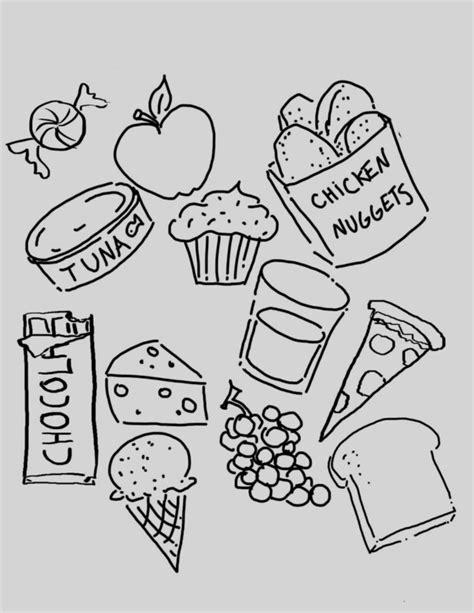 Dibujos De Comida Chatarra Para Colorear Imagui | dibujos colorear comida chatarra divertidas imagen