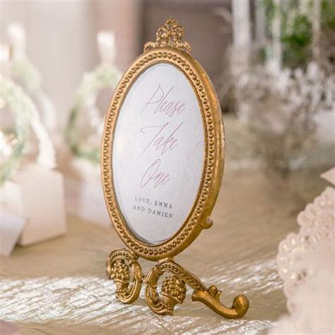 Gold Oval Baroque Frame Wedding Party Table Decor ? Candy