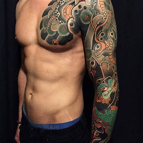 tattoo oriental irezumi japanese tattoo sleeve by horimatsu bunshin japaneseink