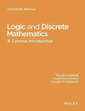 Wiley Logic And Discrete Mathematics A Concise