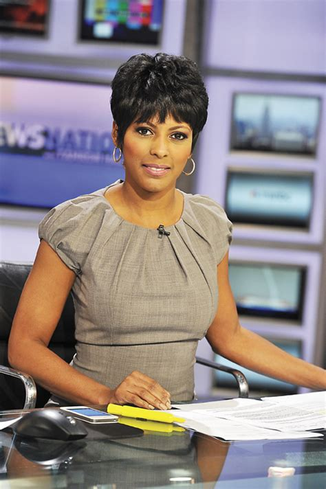 black female news anchor today show tamron hall msnbc newscaster gives news to the nation