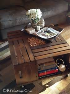 How To Make A Wooden Crate Coffee Table Wine Crate Coffee Table Decor Hacks