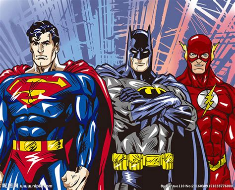 Kaos Justice League Batman Superman Flash 102 漫威英雄设计图 广告设计 广告设计 设计图库 昵图网nipic