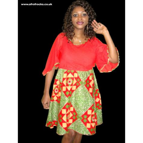 Dress Chiffon Combi chiffon and print combi dress afrofrocks