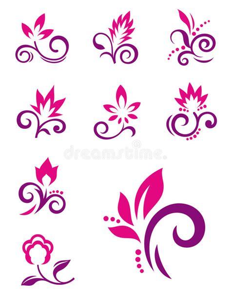 design elements flower shop floral design elements vector flower icons stock vector