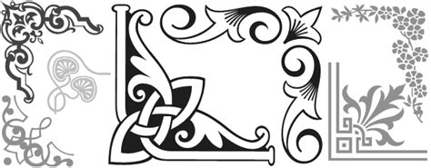 Wedding Border Symbol Fonts by Corner Designing Fonts For Decorative Borders Beautiful