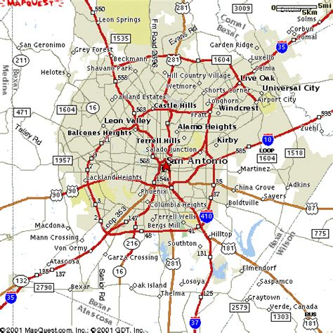 a map of san antonio texas twiggs parking event location