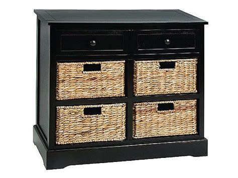 wicker 4 basket cabinet cabinet with four wicker baskets black for the home