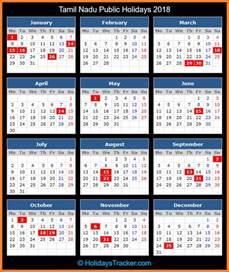 Calendar 2018 Tamil Nadu Holidays Tamil Nadu India Holidays 2018 Holidays Tracker