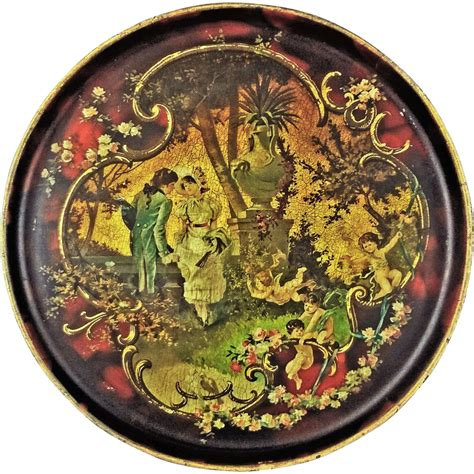 antique decoupage antique decoupage papier mache tray courting