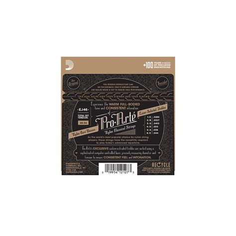 D Addario Pro Arte Classical Guitar Strings - d addario ej46 pro arte classical tension
