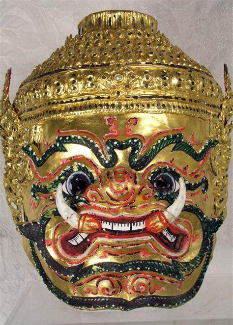 beautiful khon mask  thailand masks   world