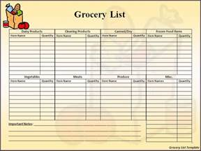 grocery shopping checklist template grocery list template best word templates