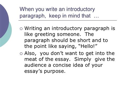 How To Write An Introductory Paragraph For An Essay by How To Write An Introductory Paragraph