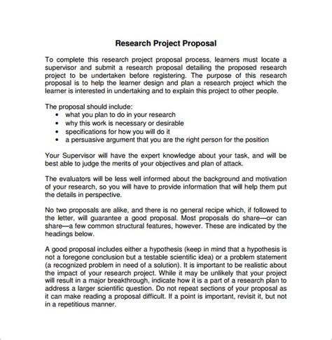 proposal format for research project 21 project proposal templates pdf doc free premium