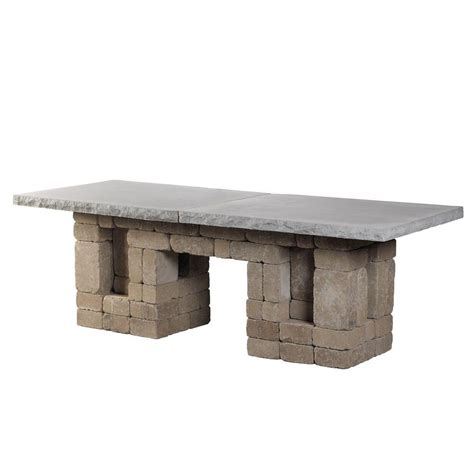 Home Depot Patio Santa Fe by Necessories Santa Fe Rectangle Patio Dining Table 4201133