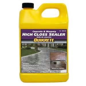 concrete sealer home depot quikrete concrete and masonry 5 lb high gloss sealer q084