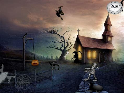 free animated halloween wallpapers for windows 7 free halloween screensavers graveyard party