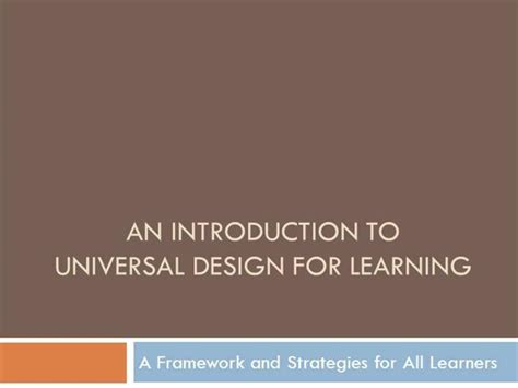 universal design for learning powerpoint presentation udl in higher education authorstream