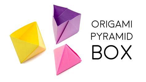 Origami Pyramid Box - origami pyramid box tutorial diy paper kawaii oozeq