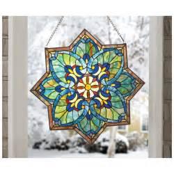 Tiffany Stained Glass Chandelier Castlecreek Star Stained Glass Window Panel 228097