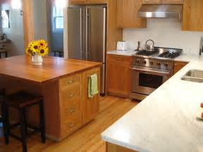 cherry cabinets with white or oak floor