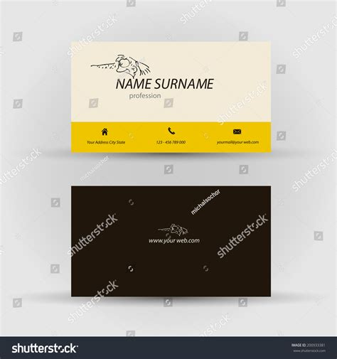 set modern vector business card template stock vector