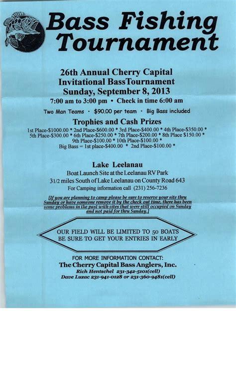 bass fishing tournament flyer