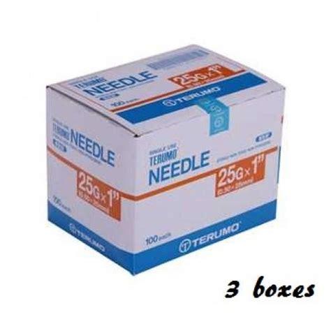 Terumo Needle 25g terumo disposable needle 25g x 1 end 1 14 2018 5 15 pm