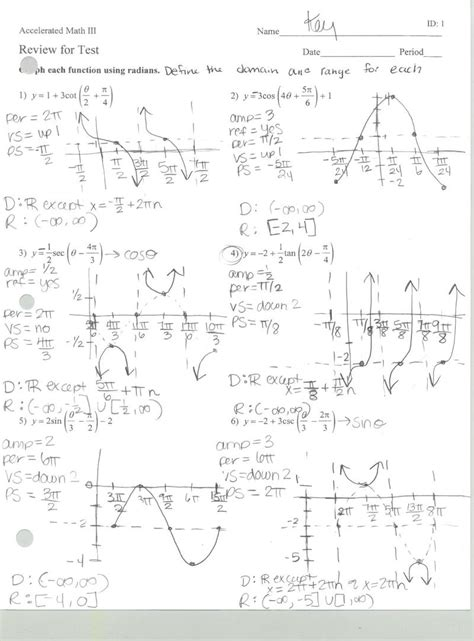 Trigonometry The Of Sines Worksheet Answers by Mrs Belcher Acc Math 3