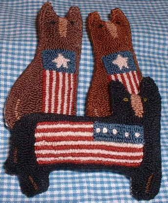 items similar to primitive needle punch pattern americana
