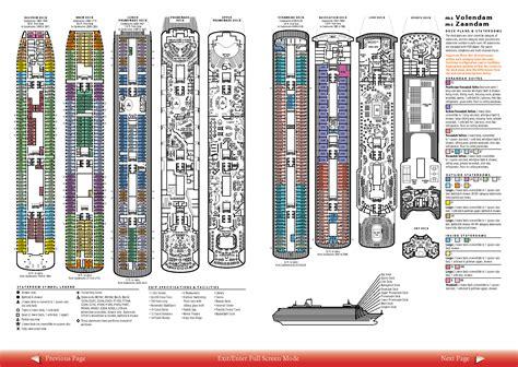 oasis of the seas floor plan volendam zaandam deck plans ship information brochure