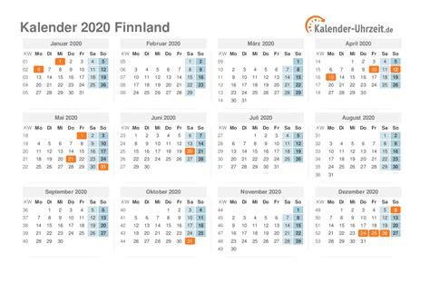 feiertage  finnland kalender uebersicht