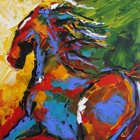 cuadros pintados a espatula im 225 genes arte pinturas cuadros de caballos pintados con