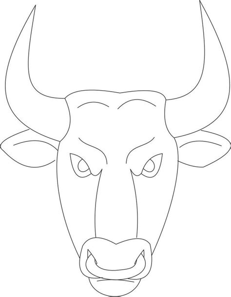 printable ostrich mask printable masks for kids bull mask printable coloring page for kids apokries