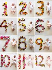 creative monthly baby picture ideas child at heart blog