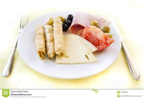 Light Breakfast by Light Breakfast In Mediterranean Resort Royalty Free Stock