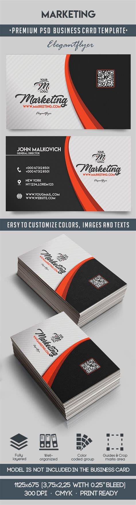 Advertising Business Cards Templates by Marketing Premium Business Card Templates Psd By