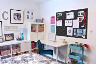 Teen teen girl decorating ikea kallax desk trofast