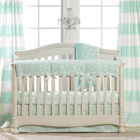 Woodland Crib Bedding Mint Green Baby Bedding Mint Green Crib Bedding