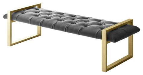 gold and gray bedroom bench dorian modern bench modern accent and storage benches