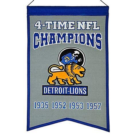 NFL Detroit Lions 4X Super Bowl Championship Banner   Bed