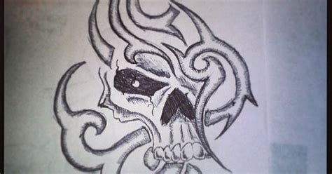 tattoo of us katie tribal skull by katie dille my drawings pinterest