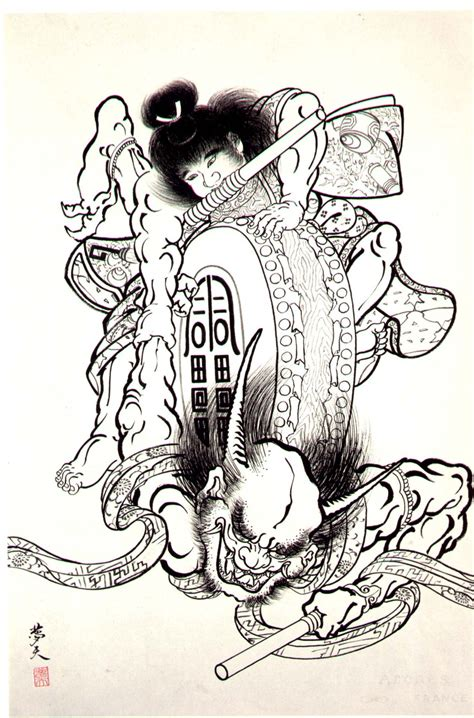 evil japanese tattoo designs thetattoocollection horiyoshi iii demons japanese
