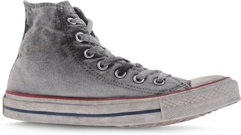 light gray high top converse converse high tops trainers in gray light grey lyst