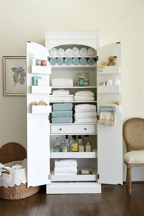 Freestanding Cabinet for Craft & Linen Storage   How To
