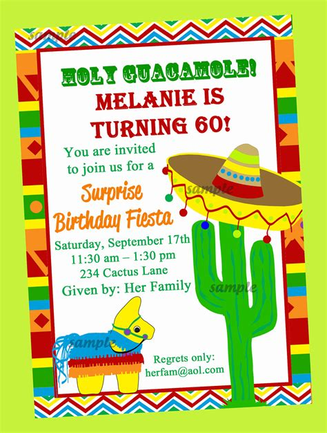 Mexican Party Invitations Template Best Template Collection Mexican Invitation Templates Free